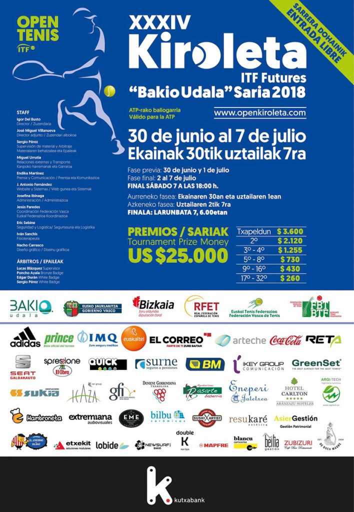 Cartel Open Kiroleta 2018 Hambroneta